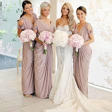 cold shoulder wedding dress sheath v neck cold shoulder blush elastic satin bridesmaid dress