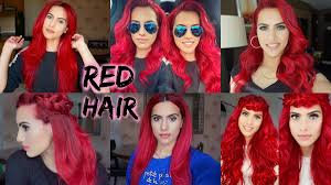 Color Dye For Dark Hair How To Dye Dark Hair Bright Red Without Bleach Youtube