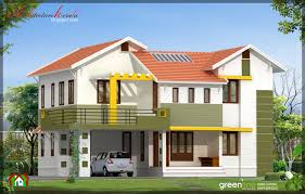 4 bhk contemporary style indian home elevation design in 2430 sq