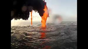 Where Is The Black Sand Beach Amazing Footage Of Lava Creating A Black Sand Beach Youtube