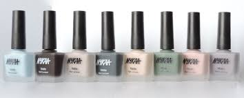 Black Paint Swatch Nykaa Nail Polish Matte Nail Lacquer Collection 8 Shades