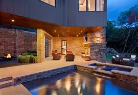 outdoor livingroom open living room in contemporary house with outdoor living space