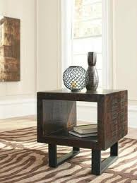 Rustic End Tables T881 Parlone Rustic Solid Acacia End Table