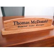 Customized Desk Accessories Handcrafted Wooden Desk Nameplate Lacewood Customized Desk