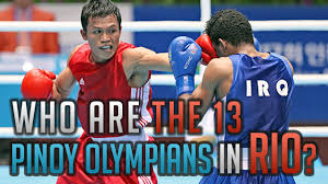 the thirteen pinoy olympians at the rio 2016 games hkpinoytv news