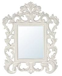 White Framed Mirror Awesome Simple Modern Wall Mirror Design Ideas Feature Gray Wall