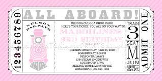 train ticket printable invitation dimple prints shop