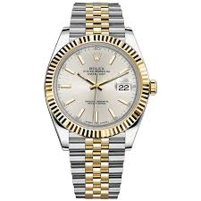 silver rolex bracelet images Rolex datejust ii steel and yellow gold silver stick dial 41mm jpg