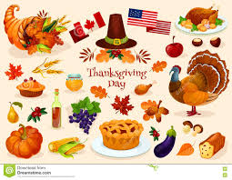 thanksgiving day vector icons stock vector image 79091004