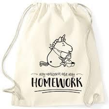 beutel sprüche turnbeutel einhorn my unicorn ate my homework sprüche spruch