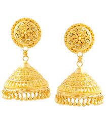 traditional kerala jhumki gold type earrings
