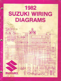 1982 suzuki atv and motorcycle wiring diagram and troubleshooting book