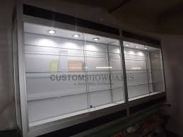 lockable glass display cabinet showcase decoration glass curio hanging glass display box wall mounted