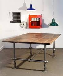 Industrial Looking Desk by Pipe Leg Table And Other Modern Industrial Techie Looking Office