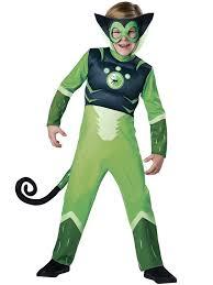 monkey halloween costume amazon com deluxe wild kratts child costume green spider monkey