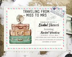 themed invitations bridal shower invitation templates travel themed bridal shower
