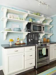 kitchen with shelves no cabinets kitchen decorating add character to a small kitchen better homes