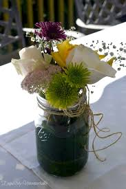 Mason Jar Floral Centerpieces Easy And Inexpensive Summer Floral Arrangements Exquisitely