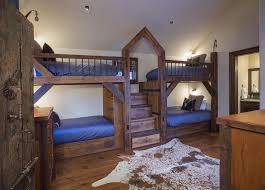 Hand Made Bunk Beds by Rustic Guest Bedroom With Carpet U0026 Hardwood Floors Zillow Digs
