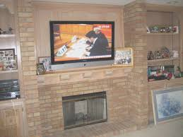 fireplace how to attach a mantel to a brick fireplace design