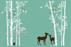 Animal Wall Decals For Nursery Home Decorating Images Tree Wall Decal Animal Deer Squarrel Forest