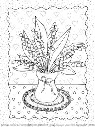 cocolicocreations Mercredi Coloriage  un bouquet de muguet