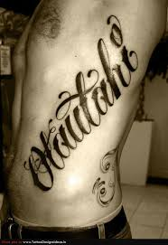 collection of 25 lettering design on rib side