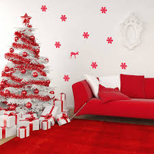 christmas wall decoration ideas flowers home decorative christmas tree wall stickers