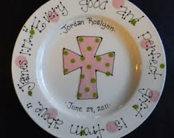 personalized baby plate baptism plate etsy