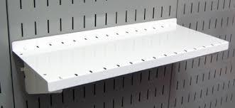 Deep Wall Shelves 3 Pack Of Scratch U0026 Dent 6in Deep Wall Control Pegboard Shelves In