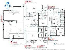 a floorplan office of the president glendale community