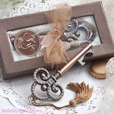 vintage wedding favors vintage skeleton key bottle opener wedding favors