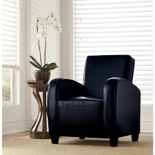 home decorators collection black bonded leather club arm chair black bonded leather club arm chair