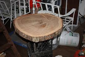 Oak Slab Table by Pinterest Outdoor Table Hack U2013 Let U0027s Face The Music