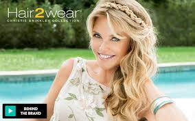 former qvc host with short blonde hair hair2wear christie brinkley hair extensions wigs hsn