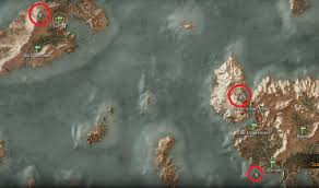 The Witcher 3 World Map by Place Of Power Locations Witcher Hour