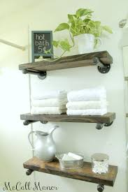 Bathroom Shelves A How To On The Guest Bath Shelves Mccall Manor