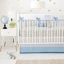 Nursery Bedding Set Blue Woodland Crib Bedding Boy Baby Bedding Blue Crib Bedding