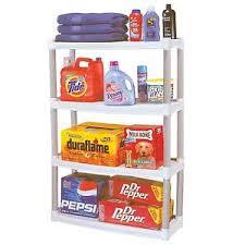 Spice Rack Plano Plano 4 Shelf Storage Unit Rack Organizer Shelves Shelving Garage