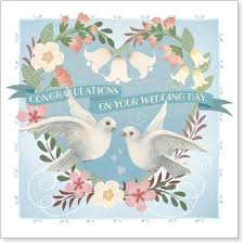 wedding day congratulations doves congratulations on your wedding day card karenza paperie