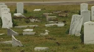 cemetery headstones car crashes into dayton va cemetery headstones ohio wcmh