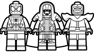 lego spiderman vs lego ronan vs lego thanos coloring book coloring