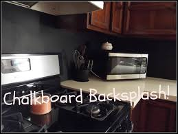 Painted Backsplash Ideas Kitchen Diy Chalkboard Kitchen Backsplash Youtube