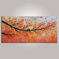 love birds painting abstract art contemporary wall art modern