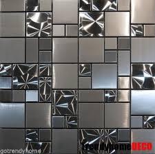 Installing Stainless Steel Tile Backsplash  Cabinet Hardware Room - Stainless steel tile backsplash
