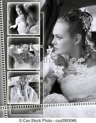 White Wedding Album Stock Image Of Brides Wedding Album Montage A Montage Of A