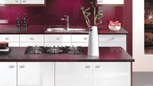 modern kitchen red luxury mahogany kitchen with modern furniture stock photography