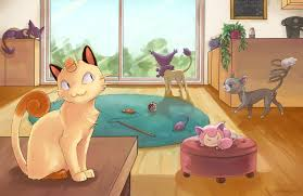 pokemon cat cafe pokemon poster pokemon print nintendo
