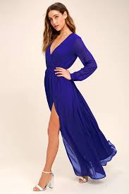 lovely royal blue dress maxi dress sleeve dress 78 00