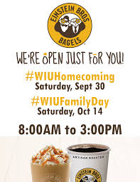 einstein bros bagels announces homecoming family day hours